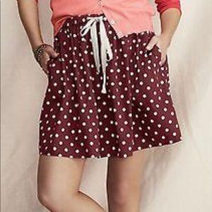 Lands End Canvas Skirt